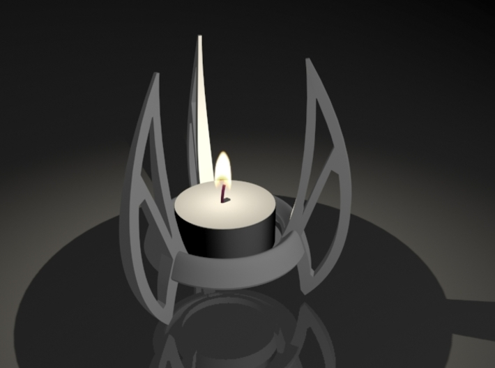 Candle 07 3d printed futuristic tea light holder
