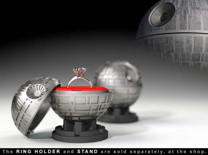 Death Star Ring Box - Proposal/Engagement Ring Box 3d printed The ring is not included.