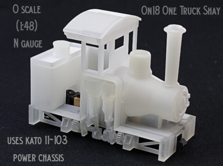 On18 One Truck Shay 3d printed
