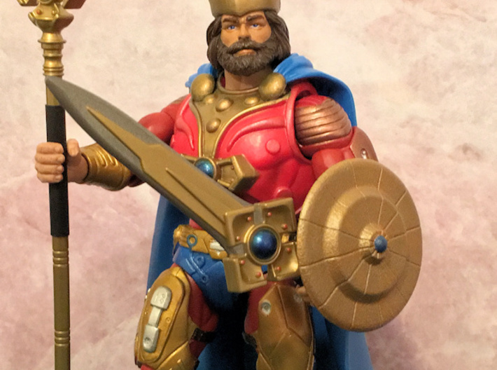 Randor's Shield (offset) 3d printed Painted gold