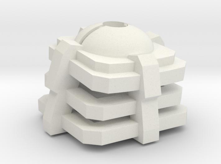 Pokeball mechanical key cap 3d printed