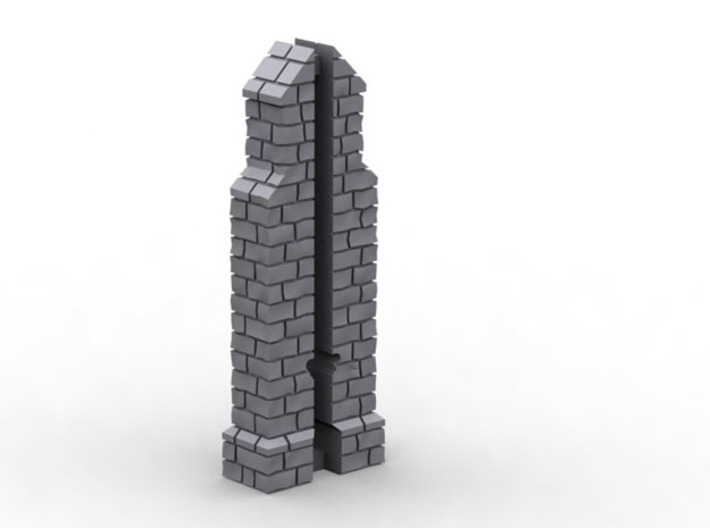 HORelM0121 - Gothic modular church 3d printed