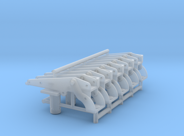 Five 1/16 30 cal' MG vehicle mount. 3d printed