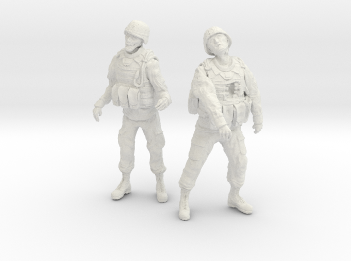 1-24 Military Zombie Set 1 3d printed