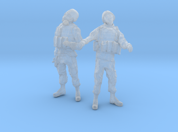 1-24 Military Zombie Set 3 3d printed