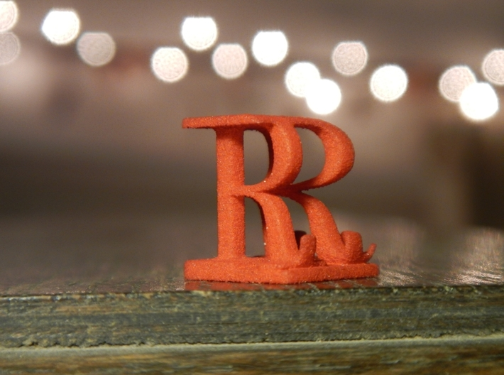 Two way letter / initial R&R 3d printed