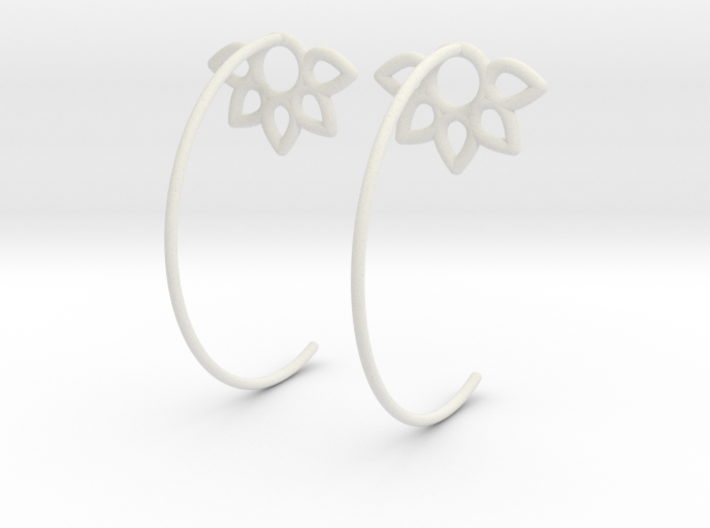 Flower Earring 3d printed