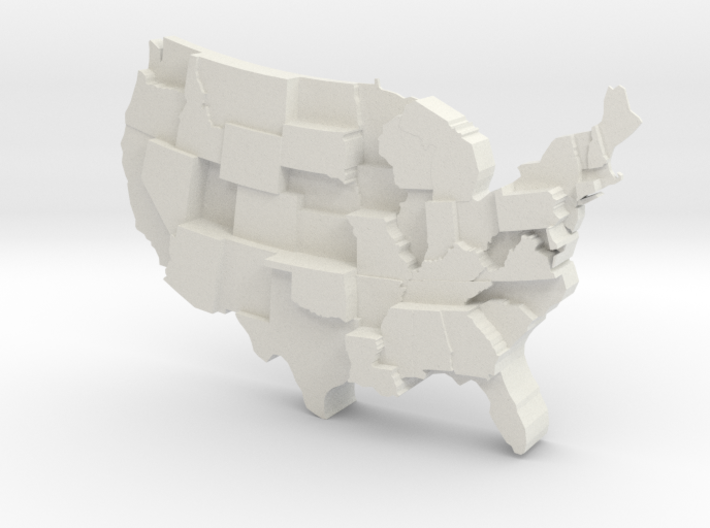 USA by Incarceration 3d printed