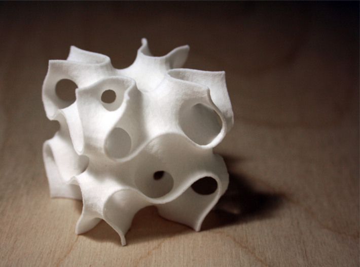 Schoen Manta Genus 19 3d printed model in white strong and flexible