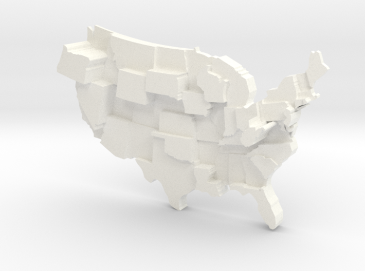 USA by Strip Clubs 3d printed