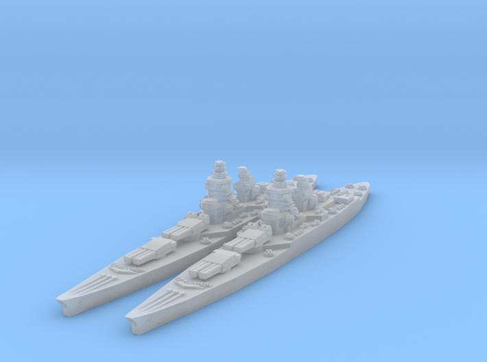 Richelieu battleship (1943 post-refit) 3d printed
