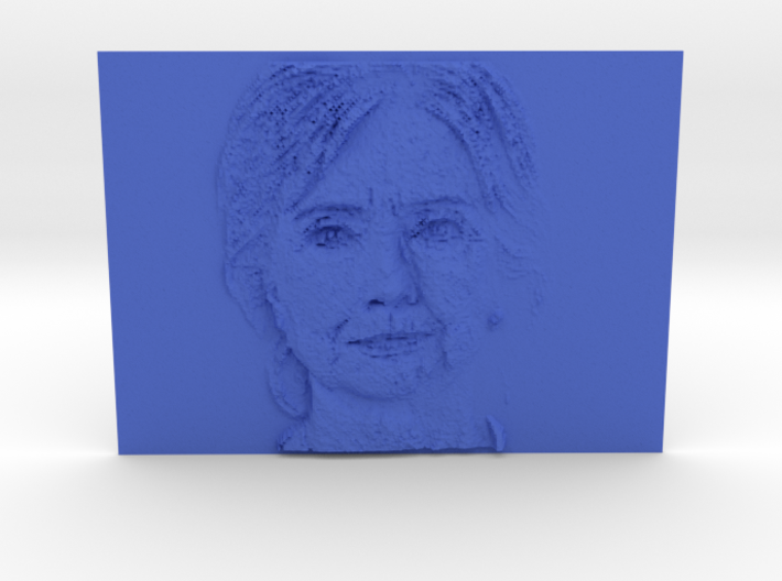 Embosssed Image Of Hillary Clinton's Face 3d printed