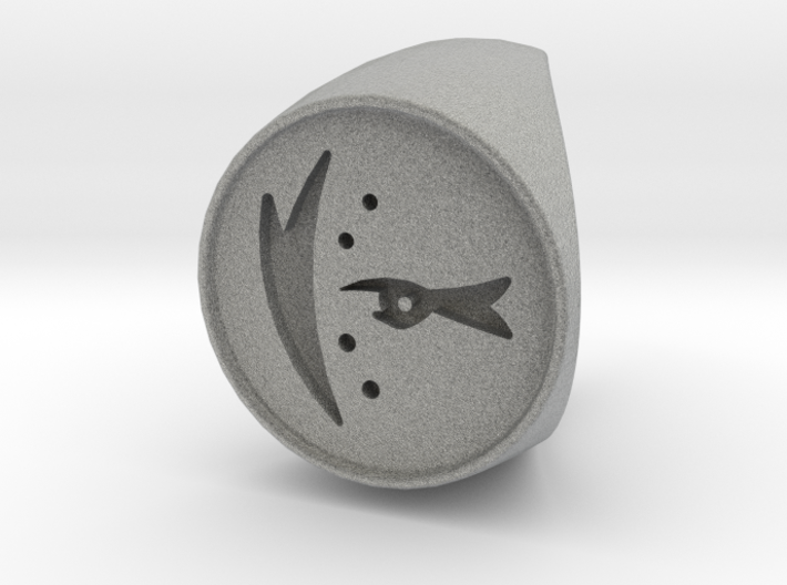 Custom Signet Ring 38 3d printed