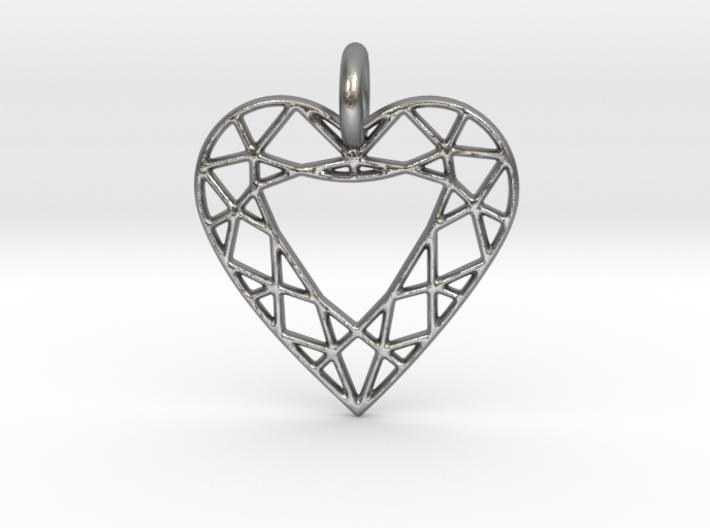 Heart Diamond Pendant 3d printed Heart Diamond Pendant is spectacular