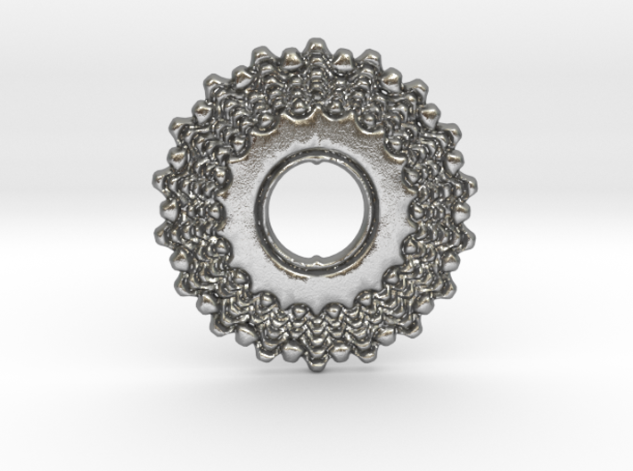 Bicycle Gear Pendant 3d printed Bicycle Gear in Silver is spectacular