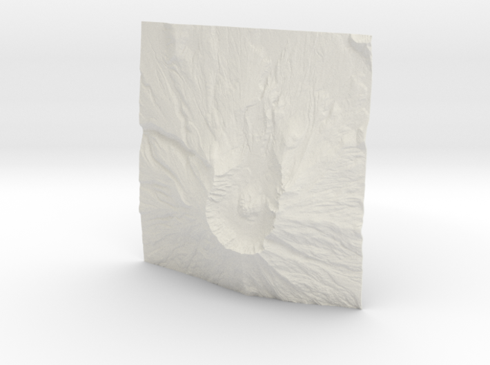 8'' Mt. St. Helens Terrain Model, Washington, USA 3d printed