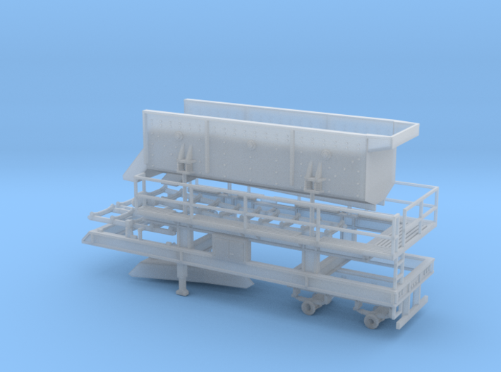 1/64th Portable Screen Plant trailer with walkways 3d printed