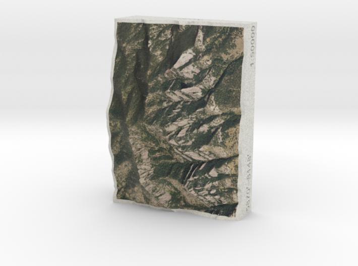 Flatirons, Colorado, USA, 1:50000 3d printed