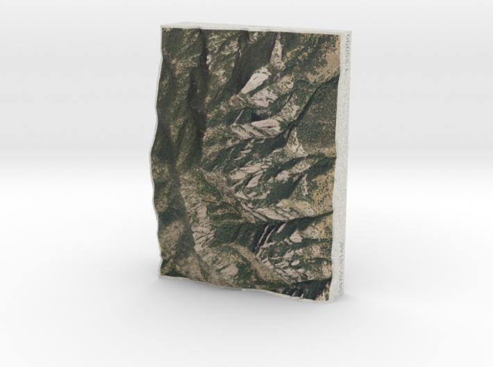 Flatirons, Colorado, USA, 1:25000 3d printed