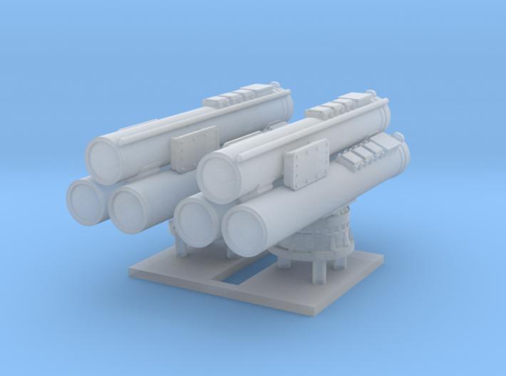Mk32 Torpedo tubes x 2 - 1/128 3d printed
