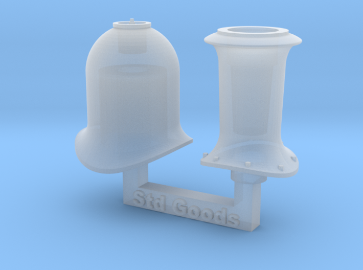 HO NSWR Std Goods Funnel & Steam Dome 3d printed