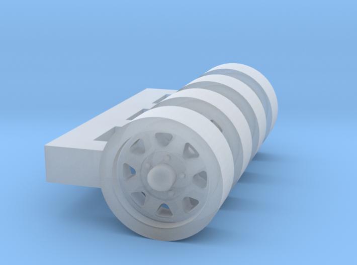 1/87 Wagon wheel style truck wheel X 4 3d printed