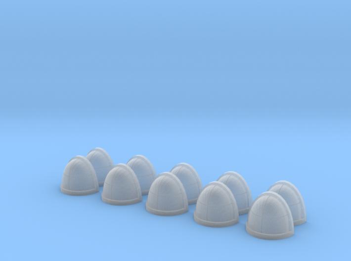 10 Shoulder Pads Quarters 3d printed