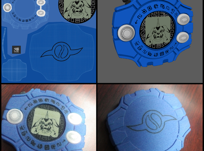 TK's Digivice 3d printed Preview of print with Matt's Digivice