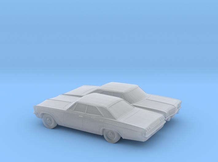 1/160 2X 1965 Chevrolet Impala Sedan 3d printed