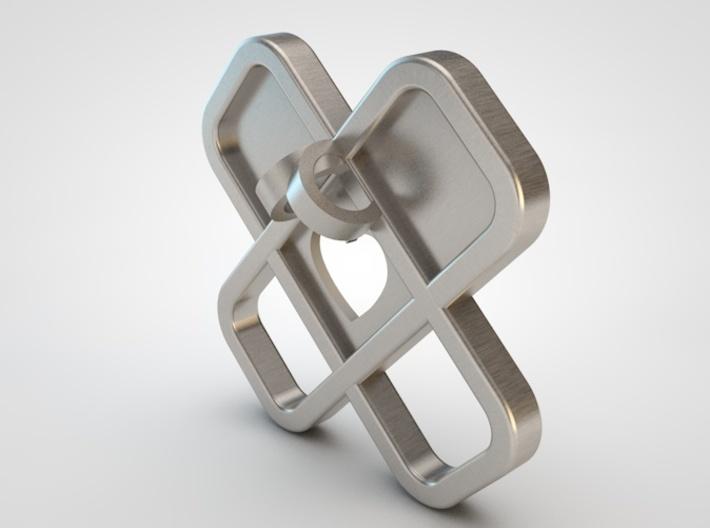 Heart Name Pendant 3d printed heart pendant back