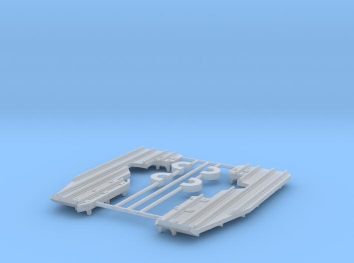 EC-135 Snow Skids 1/72 3d printed