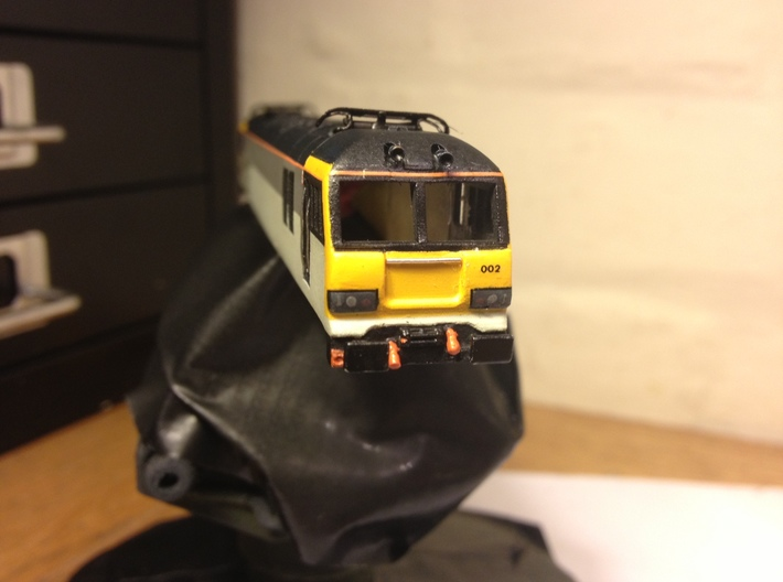 Class 92 Body Shell for N Gauge, 1:148th Scale 3d printed Original full model test print in FUD built and painted
