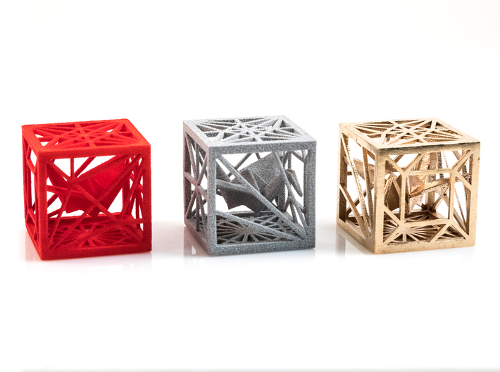 Origami Cubed Bases 3d printed
