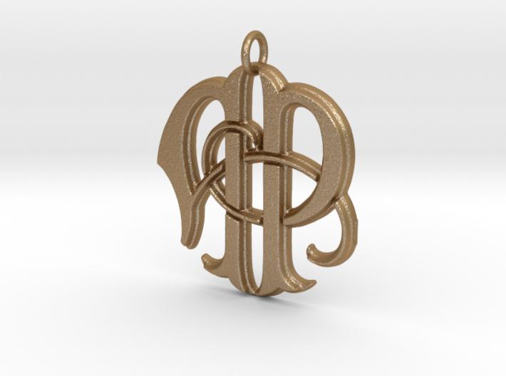 Monogram Initials AP Pendant 3d printed