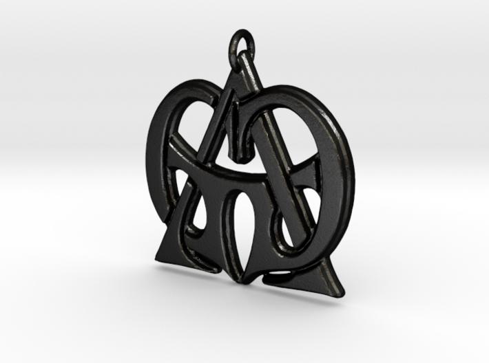 Monogram Initials GGA Pendant 3d printed