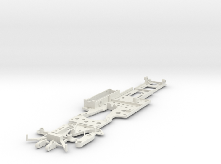 CK4 Chassis Kit for 1/32 Scale LMP MagRacing Car 3d printed This is what you'll receive if ordered in white.