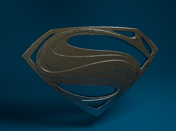 Man Of Steel - Emblem 3d printed Stainless Steel Render