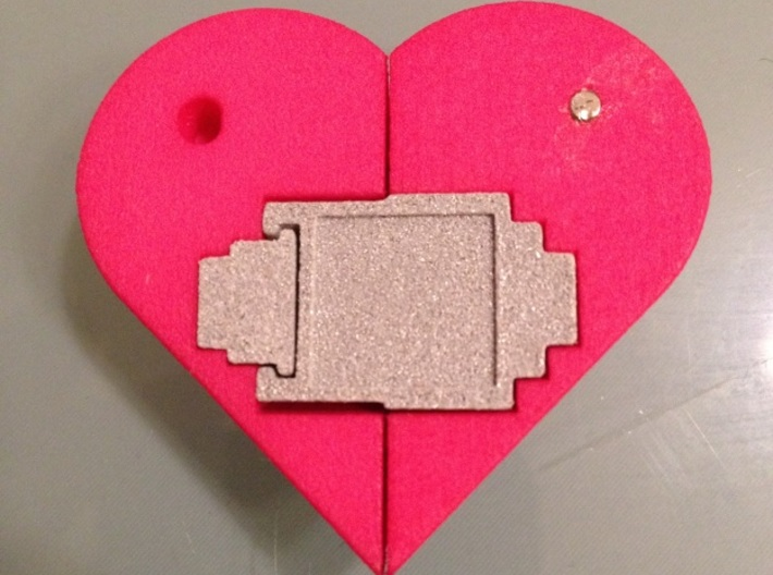 Heart Amulet Small - Outer Part 2 Left 3d printed