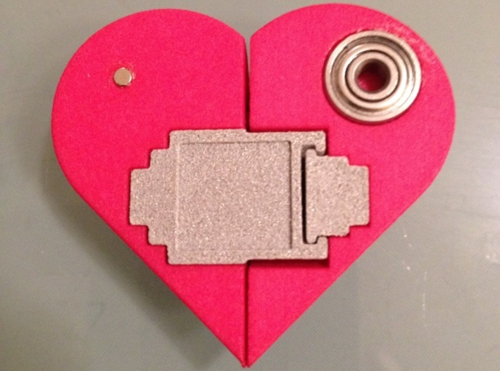 Heart Amulet Small - Outer Part 1 Right 3d printed