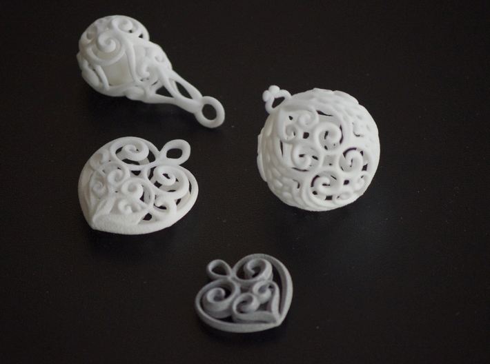 Droplet Earring-2 3d printed
