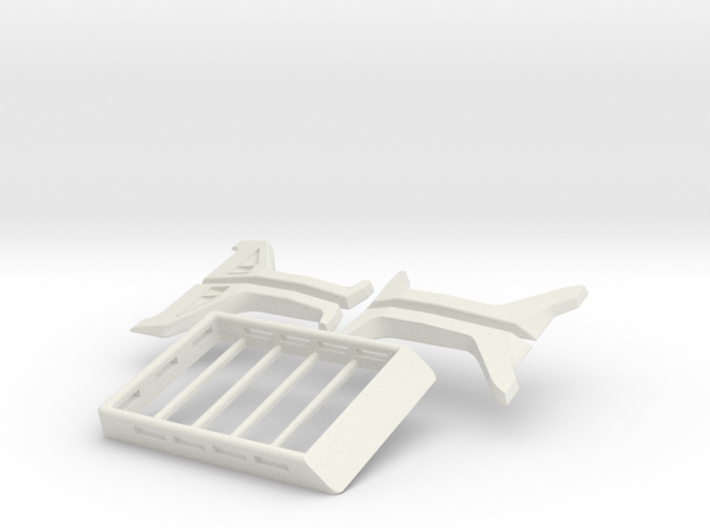 Orlando Hunter Jeep Rubicon Kit with roof rack 3d printed