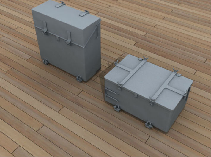 1/96 IJN Ammo Box 25mm Triple Set 10 Units 3d printed