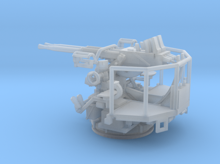 1/144 40mm Bofors twin mount USN 3d printed