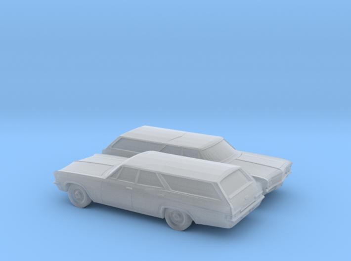 1/160 2X 1966 Chevrolet Impala Station Wagon 3d printed
