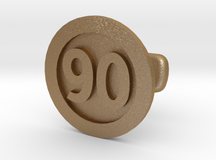 Cufflink 90 3d printed