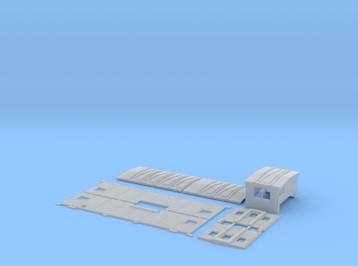 SAL/SCL M-7 Caboose Body Kit 3d printed