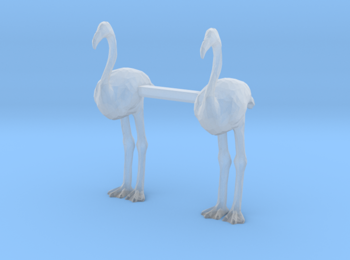 Flamingos 3d printed