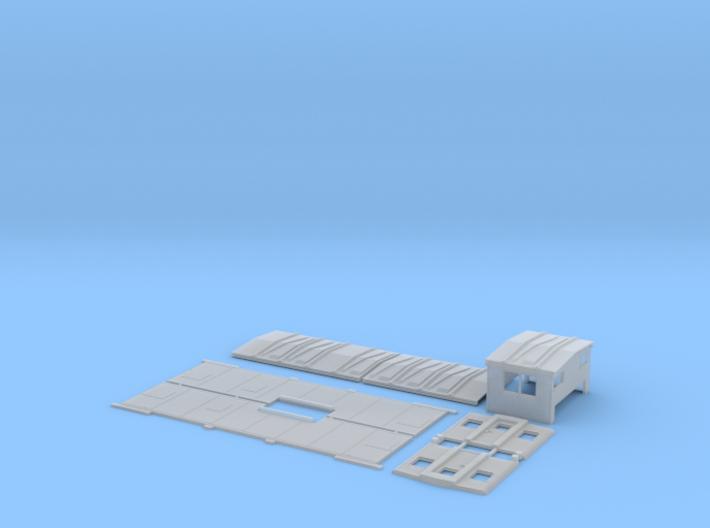 SOO 1-5 Caboose Body Kit, Blank Sides, New Door 3d printed