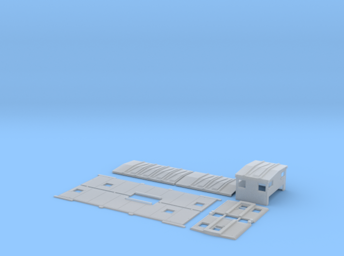 SSW 26-49 Caboose Body Kit, Bolted Windows 3d printed