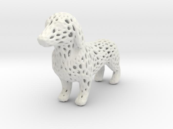 Voronoi Dachshund 3d printed